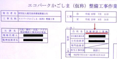 外薗県議のファミリー企業 (1)