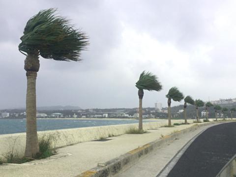 沖縄、台風27号の余波