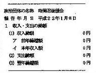 政治資金収支報告書 要旨 平成21年分 22年分