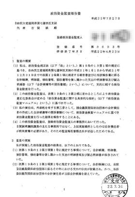 政治資金監査報告書